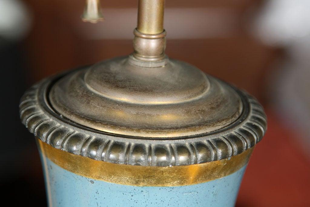 Pair of Églomisé Lamps For Sale 2