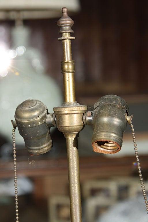 Pair of Églomisé Lamps For Sale 5