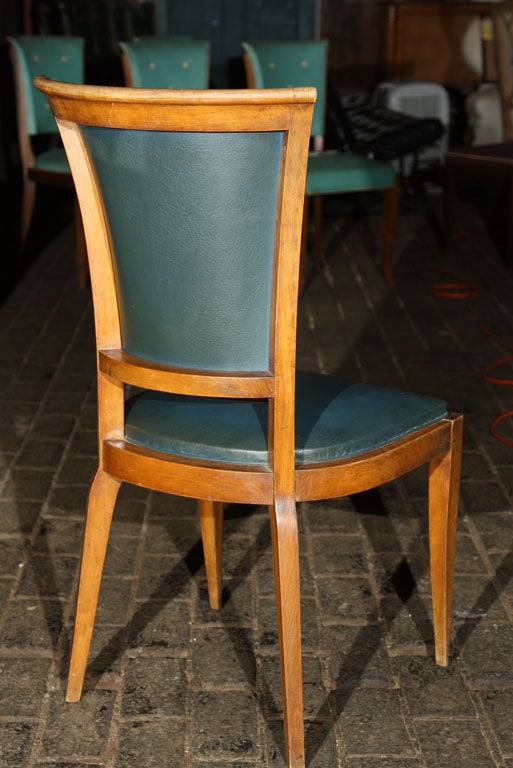 Set of Four French Chairs with Button Backs For Sale 2