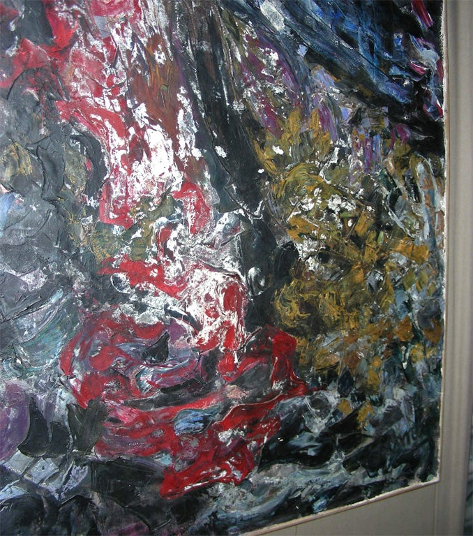 Large Painting Signed by Asimon and Dated 1960 For Sale 1