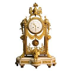Rare and superb 1870s Clock by Denière et Picard, Model by Ferdinand Berthoud