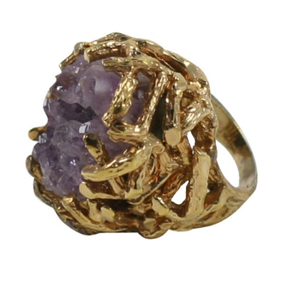 Panetta Amethyst Cluster Ring At 1stdibs