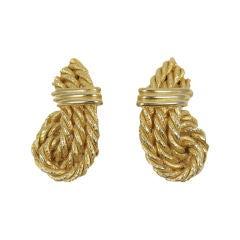 Lanvin Gilt Rope Earrings