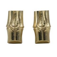 YSL Faux Bamboo Gilt Earrings