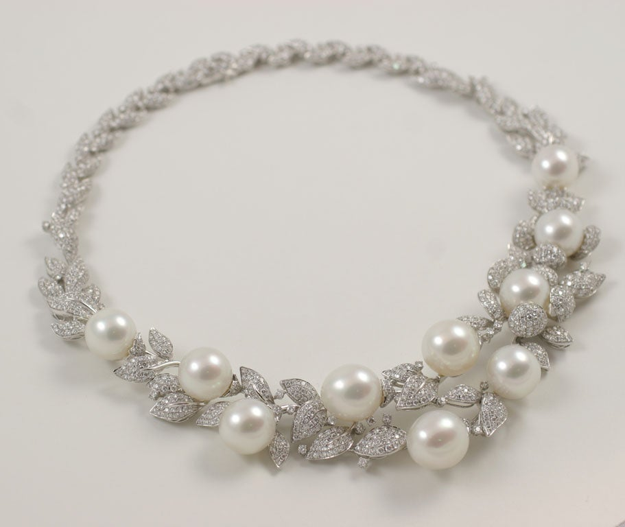 Diamond and Pearl necklace 2