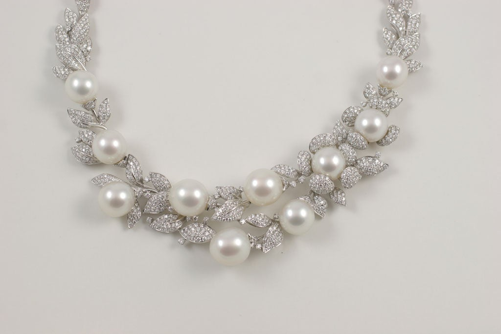 Diamond and Pearl necklace 3
