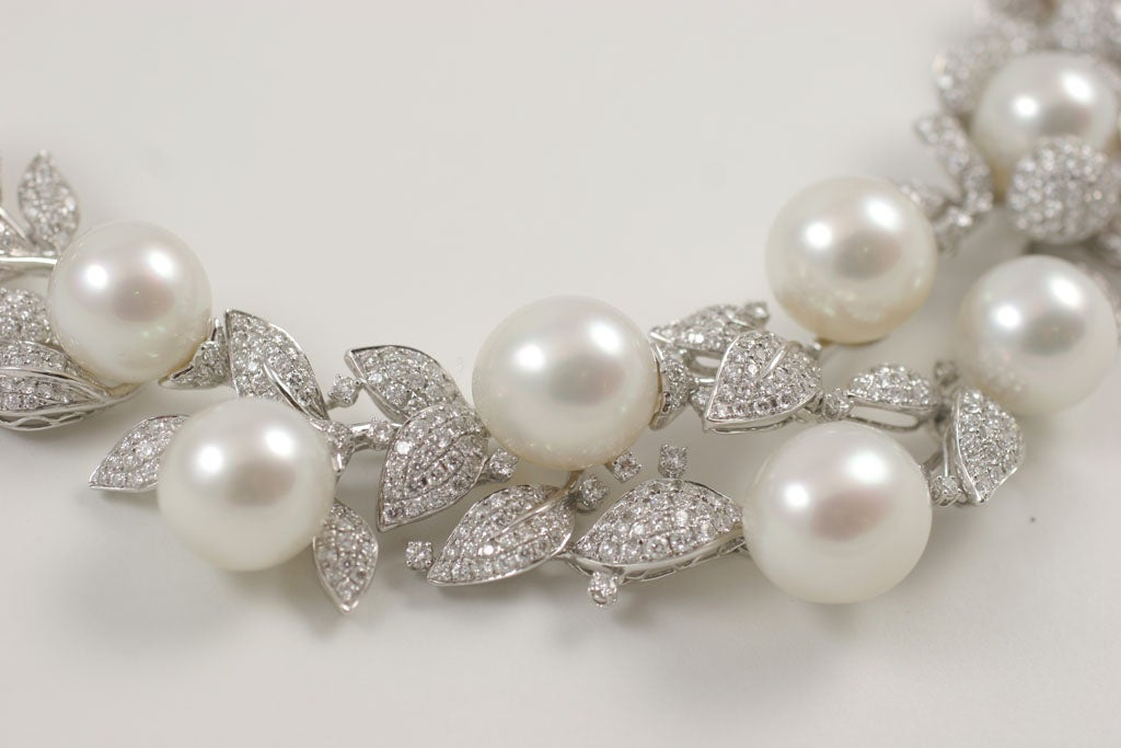 Diamond and Pearl necklace 4