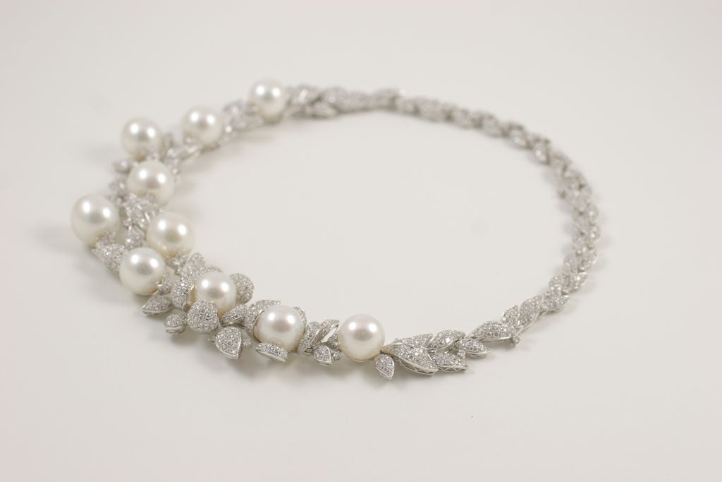 Diamond and Pearl necklace 6