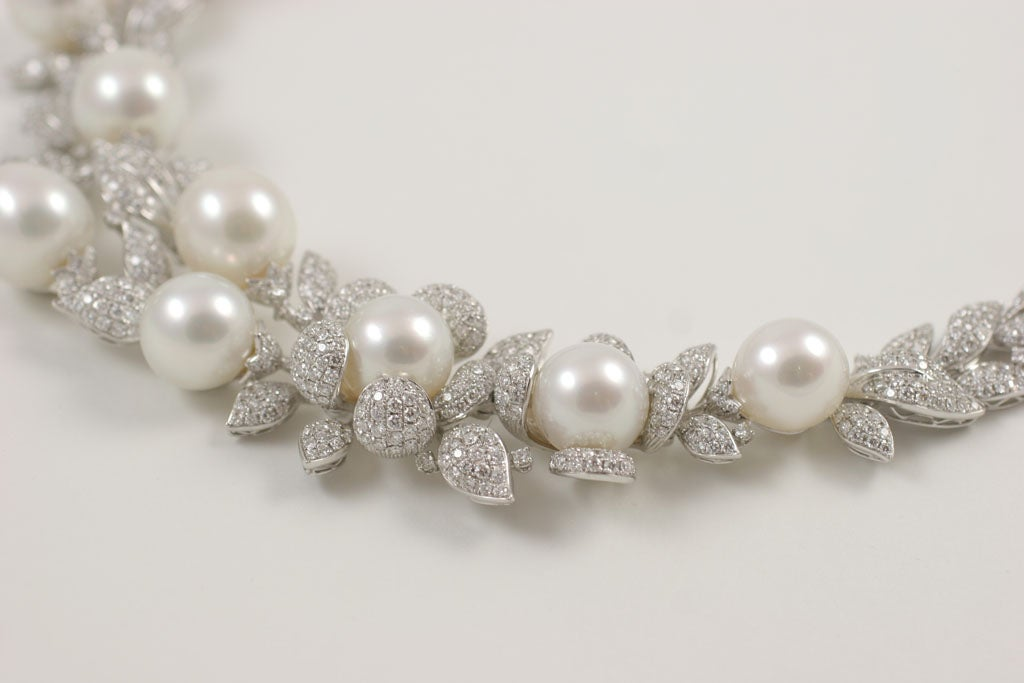 Diamond and Pearl necklace 7