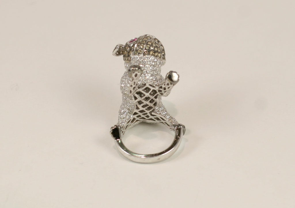 Pug  Dog Cocktail Ring 2