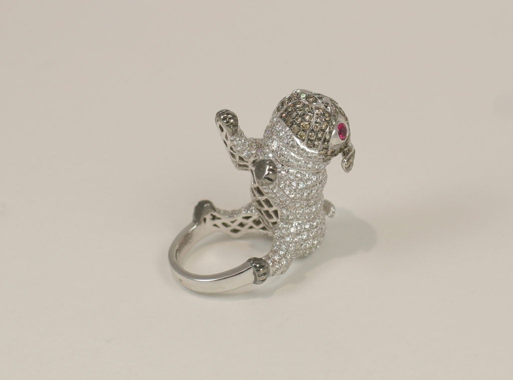 Pug  Dog Cocktail Ring 3
