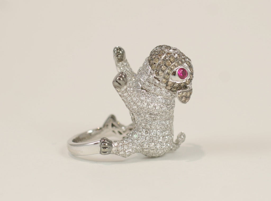 Pug  Dog Cocktail Ring 4