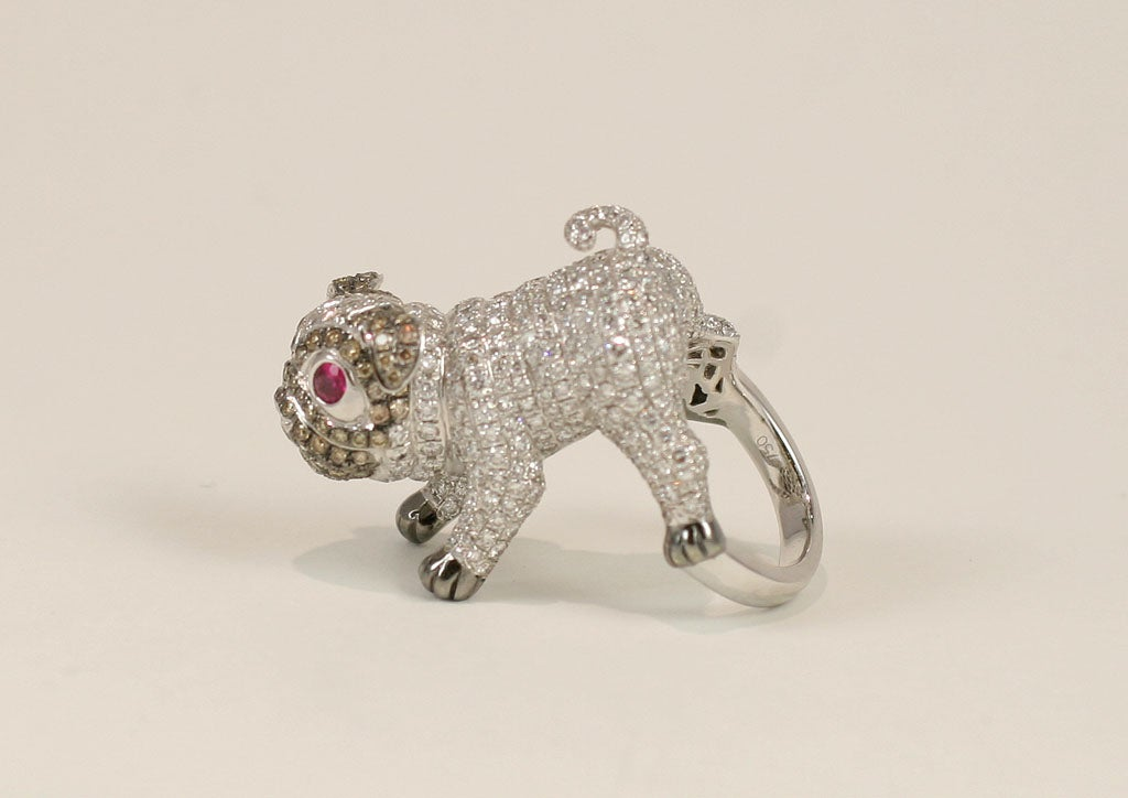 Pug  Dog Cocktail Ring 5