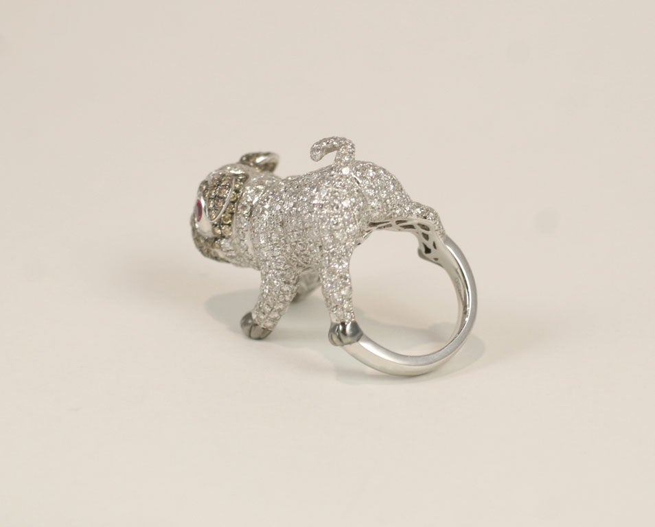 Pug  Dog Cocktail Ring 6