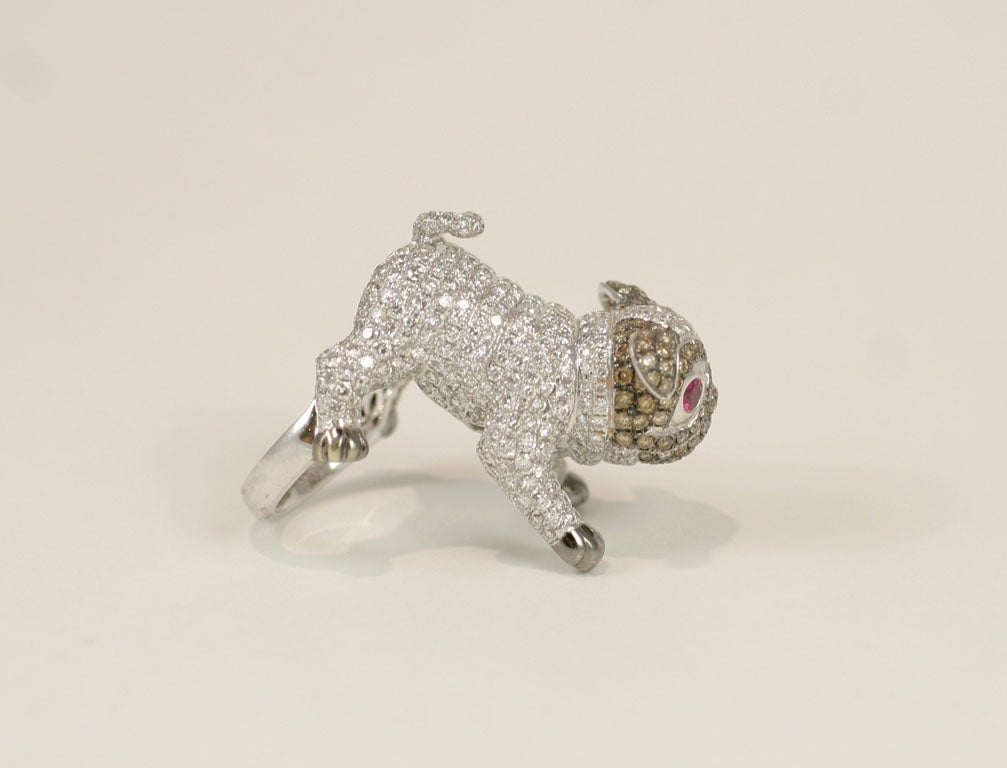 Pug  Dog Cocktail Ring 8