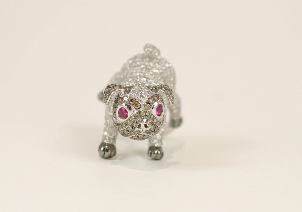 Pug  Dog Cocktail Ring 9