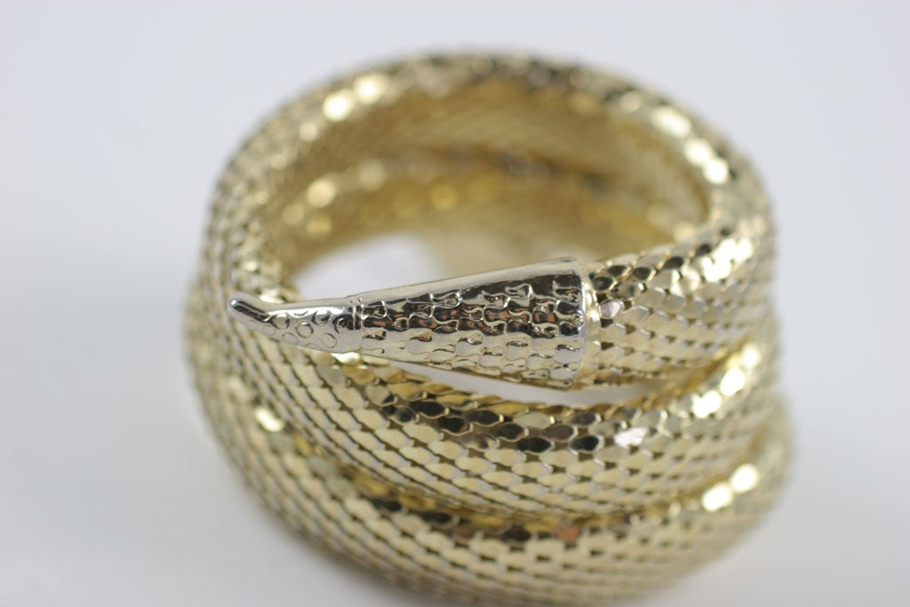 "Whiting and Davis ""Gold"" Snake Bracelet 5"