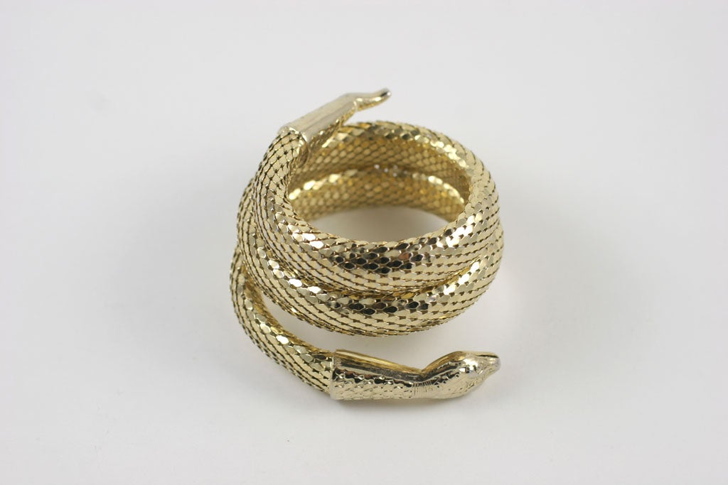 "Whiting and Davis ""Gold"" Snake Bracelet 2"