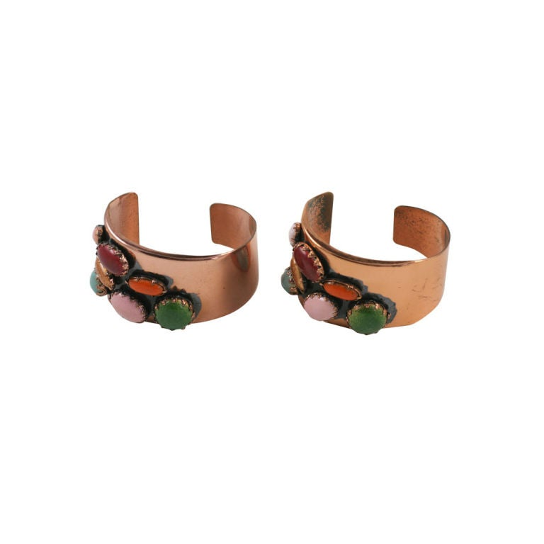 Pair of Matisse Copper Cuffs