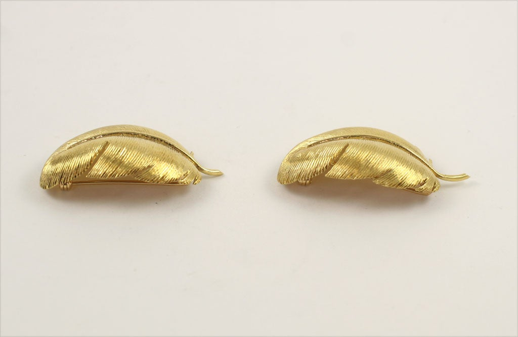 Matched TIFFANY & CO. Feather Brooches 4