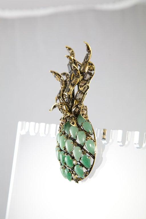 Beautiful Pineapple Brooch by Iradj Moini For Sale 1