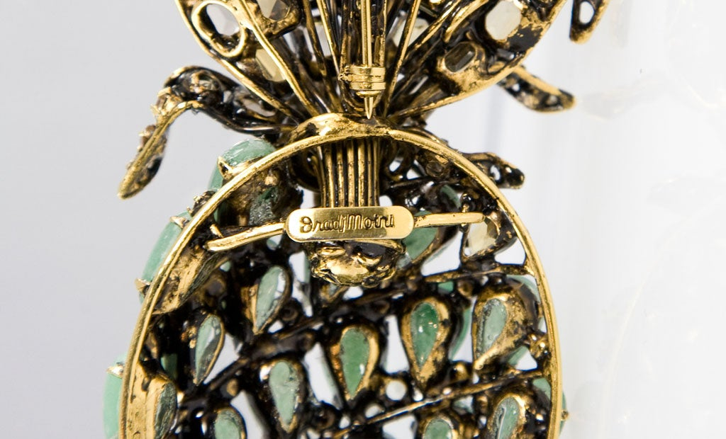 Beautiful Pineapple Brooch by Iradj Moini For Sale 4