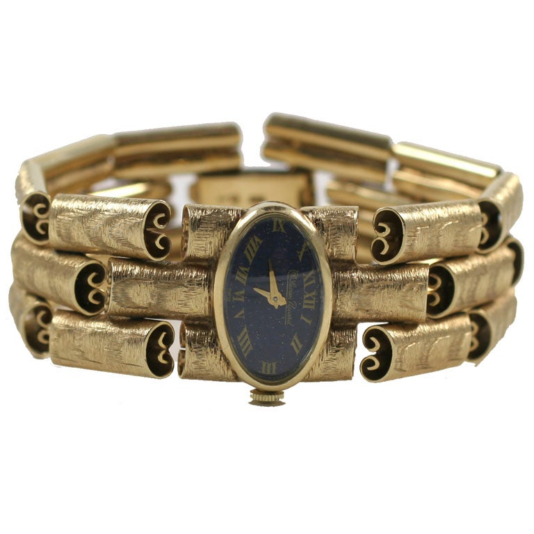 lucien piccard 14kt brushed yellow gold at