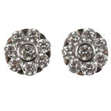 Diamond stud looking earrings