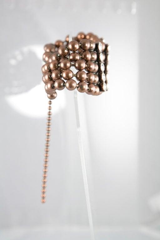 Bronze Bead and Rhinestone Choker and matching Bracelet 4