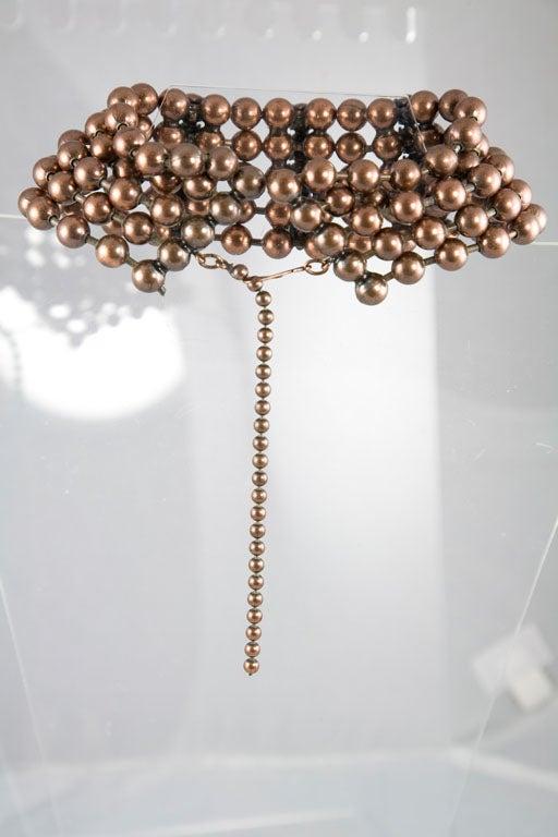Bronze Bead and Rhinestone Choker and matching Bracelet 5