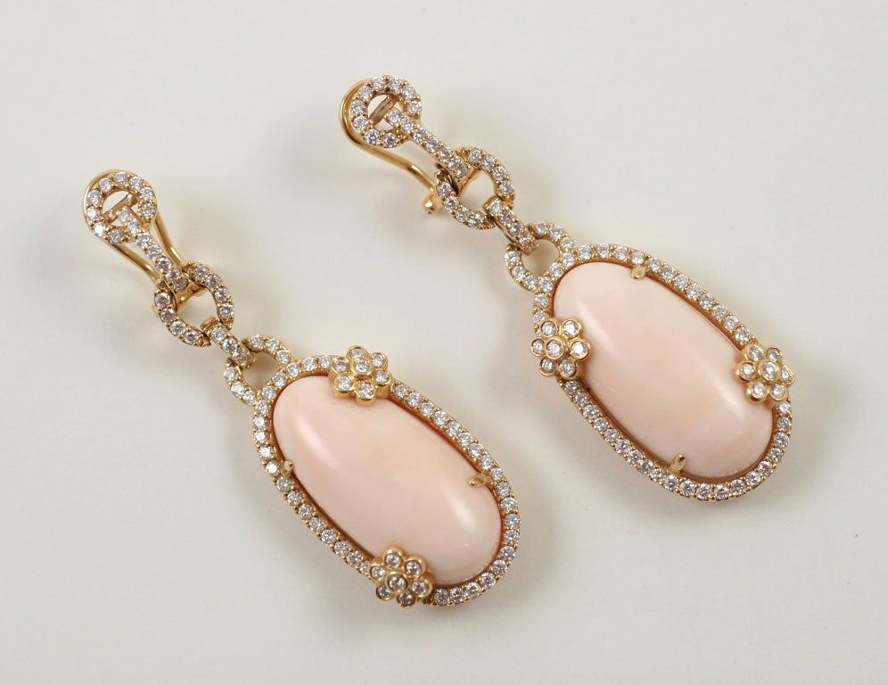 Diamond and Coral Earrings 3
