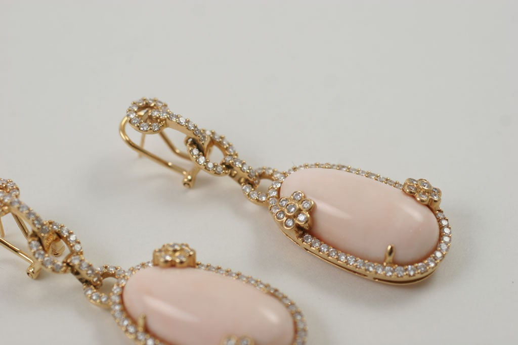 Diamond and Coral Earrings 4