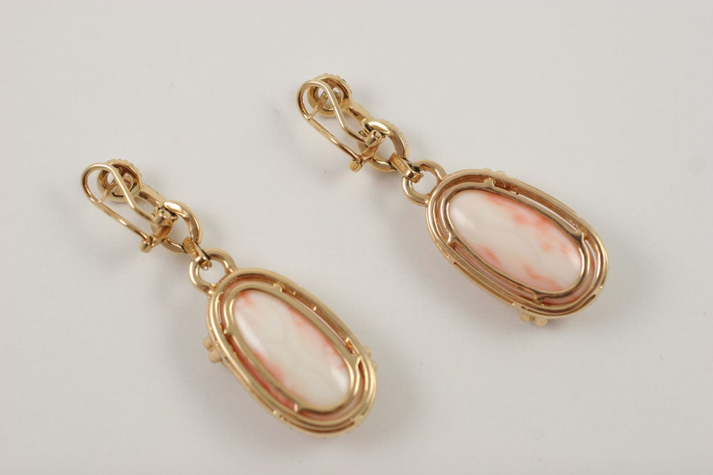Diamond and Coral Earrings 9