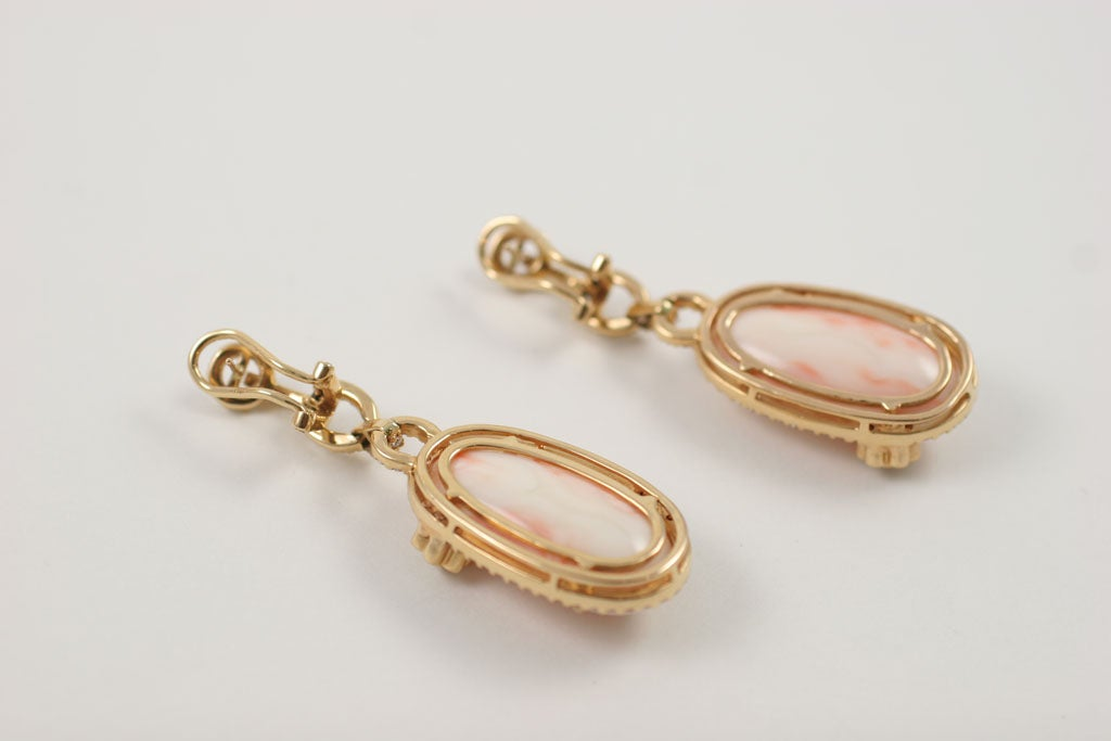 Diamond and Coral Earrings 10