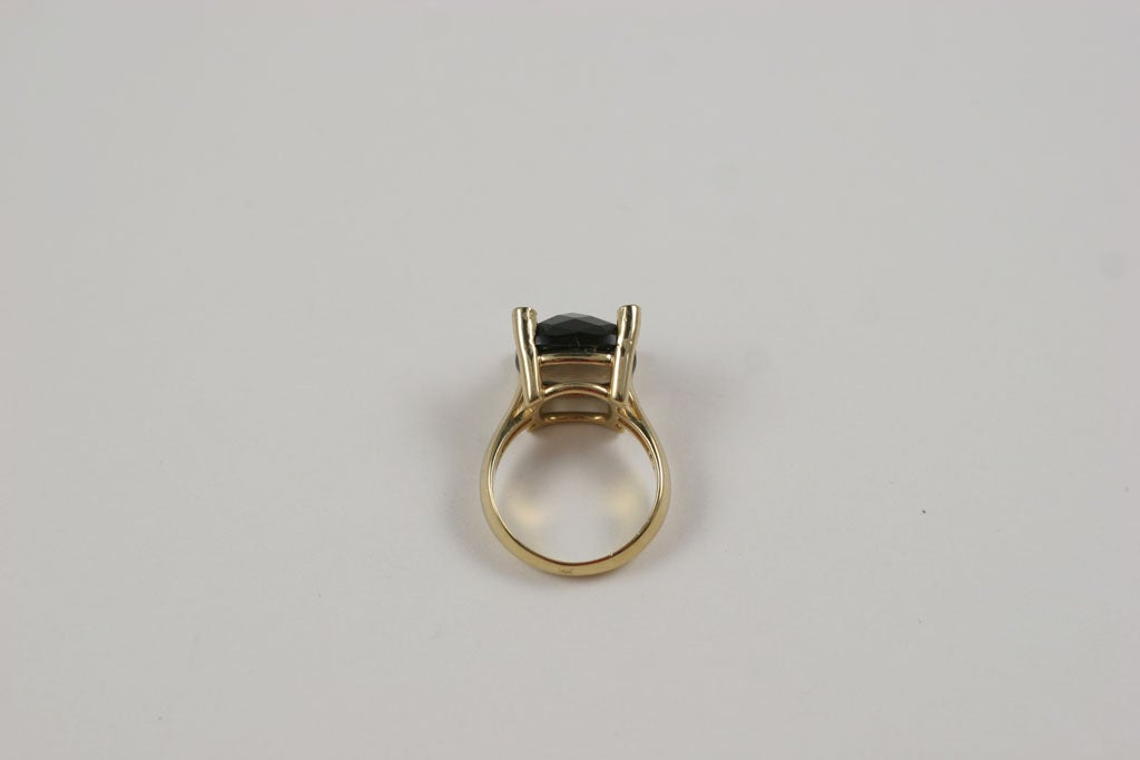 Smoky Topaz Cabochon Ring For Sale 3