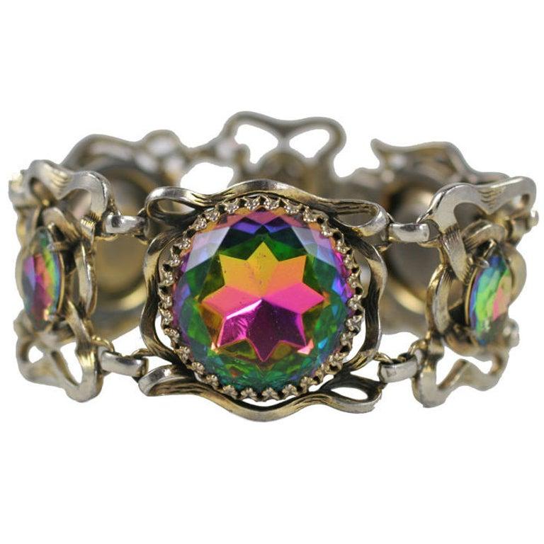 Large Schiaparelli Bracelet, Costume Jewelry