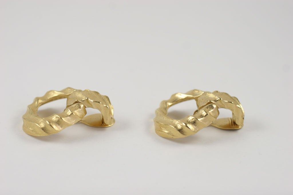 Women's Givenchy Goldtone Hoop Earrings For Sale