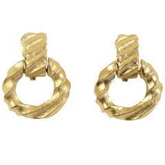 Givenchy Goldtone Hoop Earrings