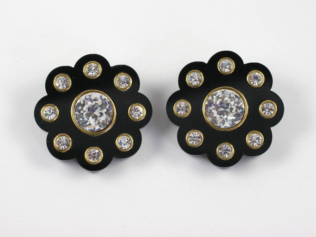 Spectacular Chanel Daisy Earrings 2