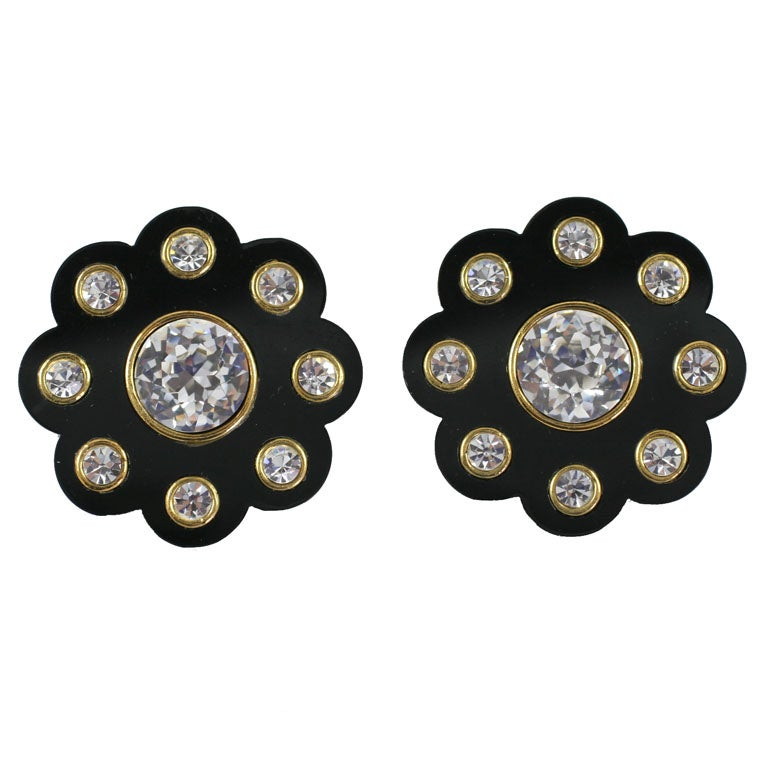 Spectacular Chanel Daisy Earrings