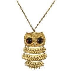 Goldette Owl Pendant Necklace