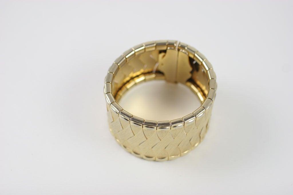 Women's Woven Goldtone Bracelet For Sale