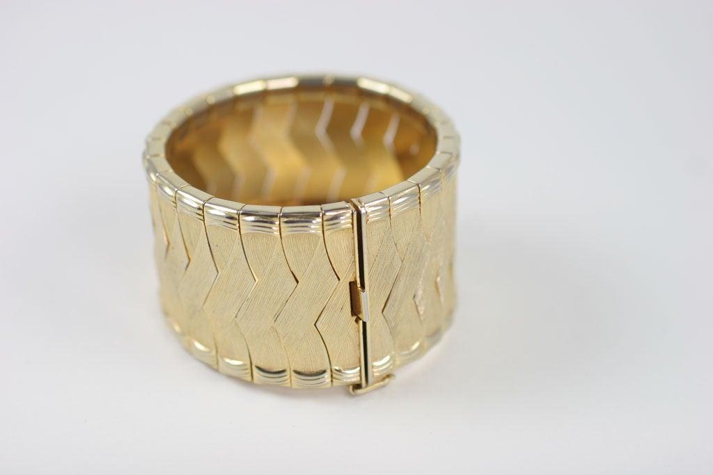 Woven Goldtone Bracelet For Sale 1