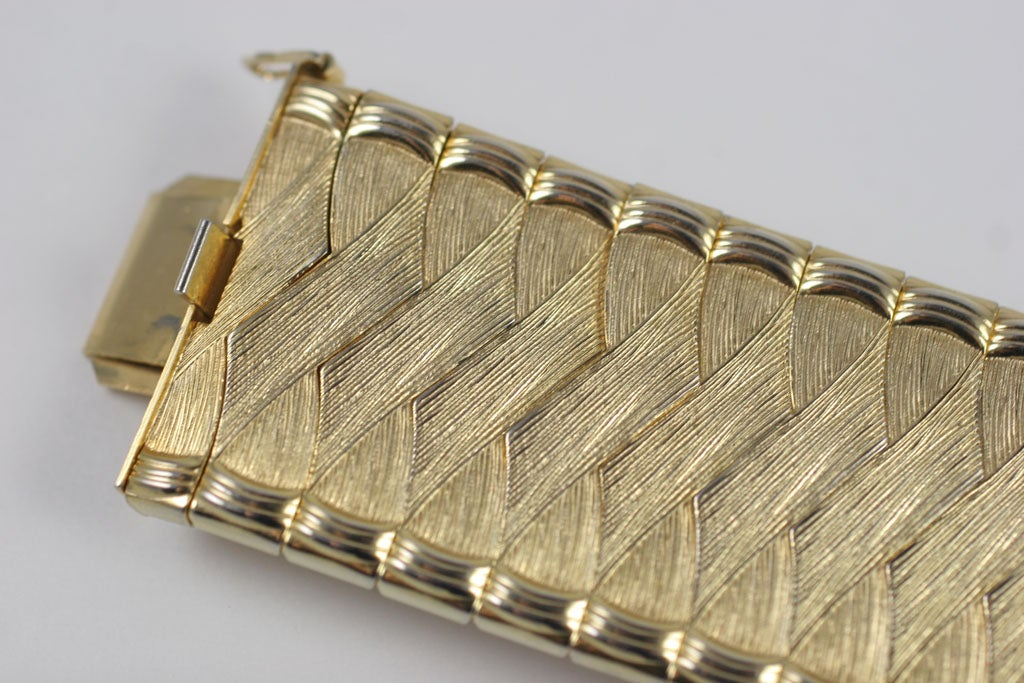 Woven Goldtone Bracelet For Sale 3