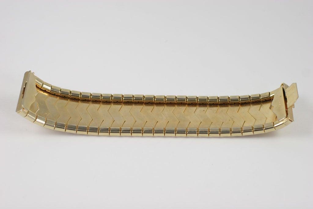 Woven Goldtone Bracelet For Sale 4