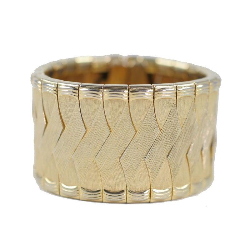 Woven Goldtone Bracelet For Sale