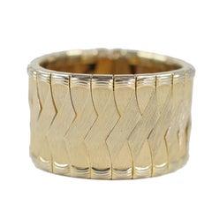 Woven Goldtone Bracelet/ Cuff, Costume Jewelry