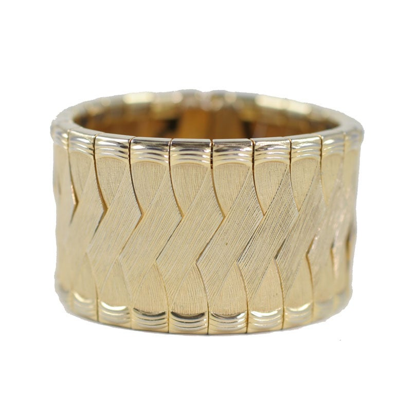 Woven Goldtone Bracelet/ Cuff, Costume Jewelry For Sale
