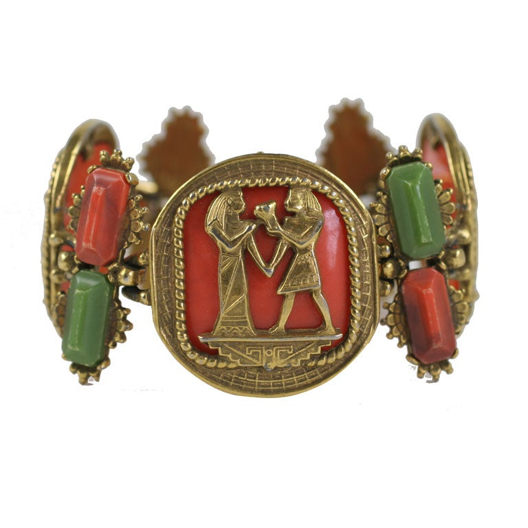 Egyptian Revival Bracelet For Sale At 1stdibs