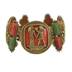 Egyptian Revival Bracelet, Costume Jewelry